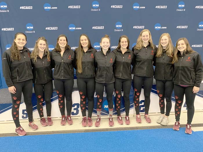 Bates Women's Swimming Finishes 20th at NCAAs