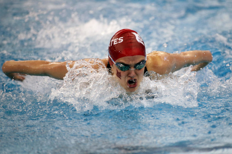 """Caroline Apathy '21 is a 10-time All-American. She was the No. 1 seed in the 100-yard butterfly for the NCAA Championships, additionally qualifying to race in the 50 freestyle, 100 backstroke, and several relay events. The women who qualify for NCAAs stay on campus to train [over breaks]. So our whole national's team really felt like our work had gone out the door,"""" she said."""