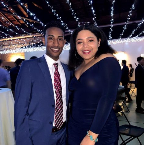President-elect Perla Figuereo '21 (right) and Vice President -elect Lebanos Mengistu '21 (left).