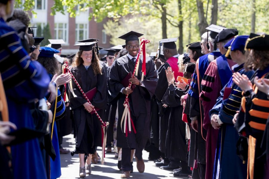 A scene from Commencement in 2019.
