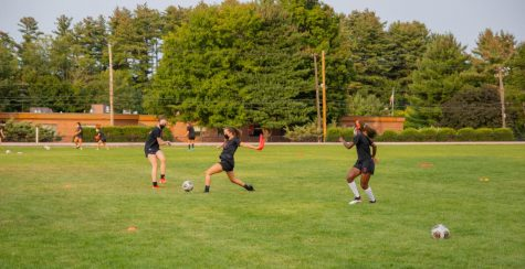 Women's Soccer was able to modify existing drills to comply with the COVID-19 guidelines.