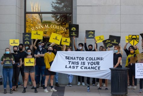 Sunrise March Demands Senator Collins Upholds Promise on SCOTUS Vote