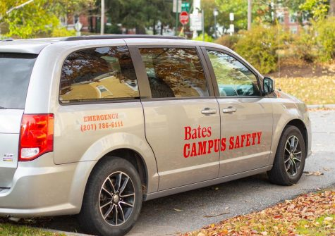 Bates College Campus Security Vehicles with new logo after name change. The vehicles are located in the parking lot attached to Campus Security building on 245 College Street Lewiston, ME