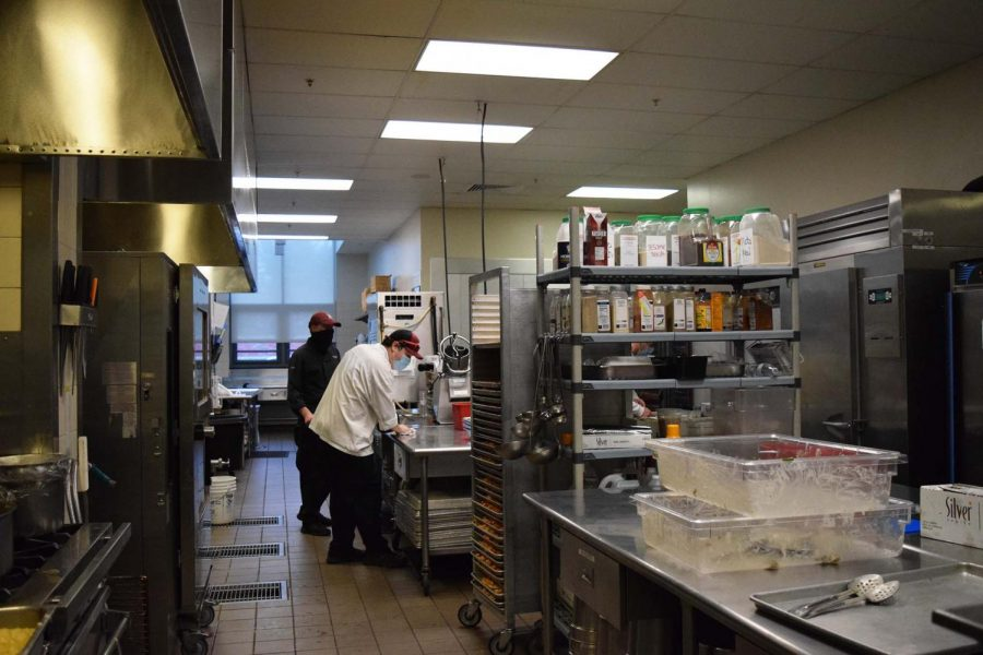 Commons kitchen – look at all of the spices!