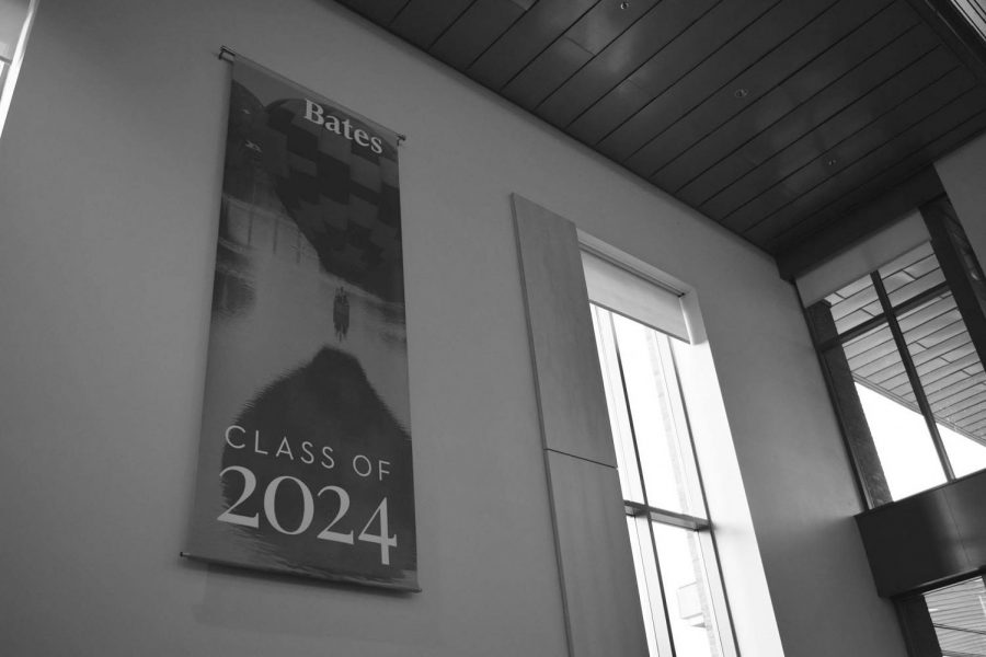 Usually the new class banner is hung before parent's weekend. This year, the new Class of 2024 banner was installed before Harvest Dinner.