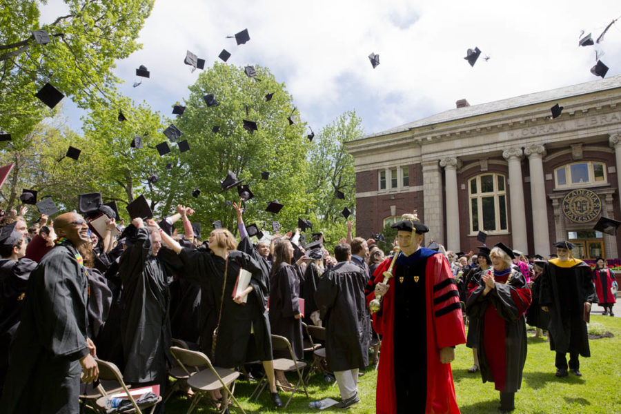 Commencement for the Class of 2020 was held virtually due to the pandemic. Many members of the Bates community welcome the opportunity to celebrate in-person this spring.