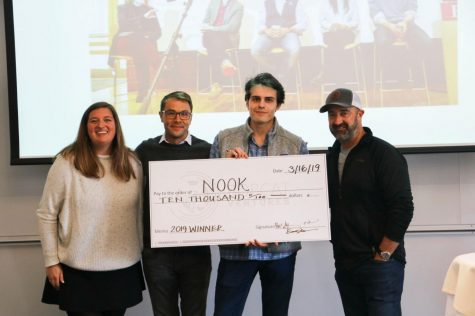 Pitch competition winner George DeLana '19 won the $10,000 prize for his storage business in 2019.
