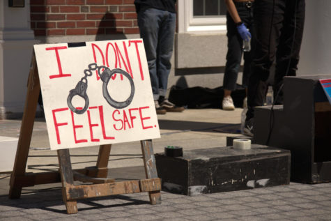 "Photo Story: Bates students walk out to ""defund and disarm"" campus safety"