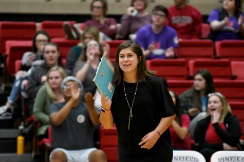 Emily Hayes will take the reins of the new volleyball team, who recently played in their season opener against Husson University.