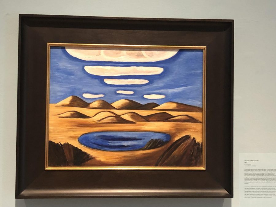 Hartley+was+a+world+traveler+as+he+traveled+to+Europe%2C+Mexico%2C+and+the+Caribbean+islands.+His+painting+Lost+Country-Petrified+Sand+Hills+1932+was+described+in+the+exhibit+as+%E2%80%9CMexico+through+the+lens+of+the+New+Mexico+Collections.%E2%80%9D+Hartley+painted+twenty+pictures+in+Mexico.+%28Oil+on+Masonite%2C+Vilcek+Collection+2018.01.01%29