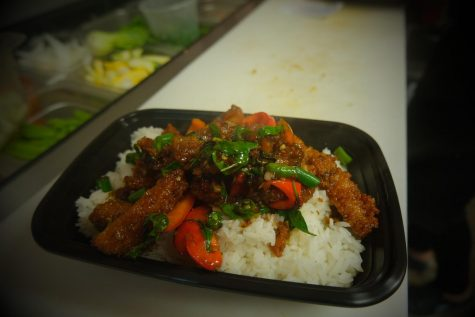 Tina Thai Express can be found at the corner of College and Sabattus, just a short walk from campus.