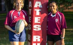 Lucia Hill and Mallika Jena, sophomores, have both enjoyed their experience joining the rugby team this fall.