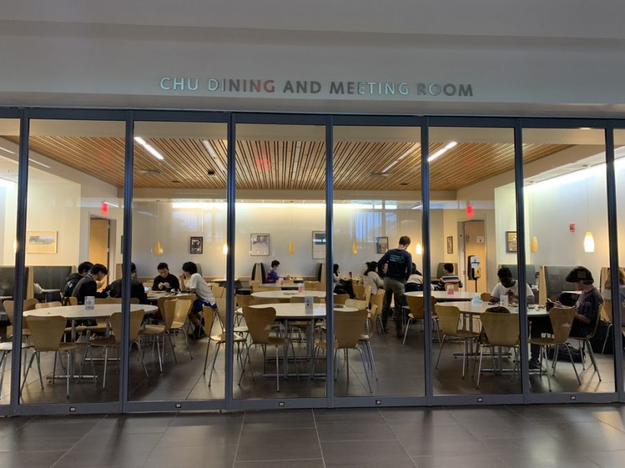 """""""The quietness and small size of the Arcade allows for a more consistent and socially protective space, since your table and its numbers are not on public display."""" The Arcade provides a different physical, and aesthetic, space for students to dine."""